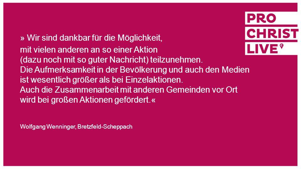 » Viele der inzwischen 25 Hauskreise haben ihre Wurzeln in einem Glaubenskurs oder in proChrist.« Evangelische Kirchengemeinde Velbert Nierenhof