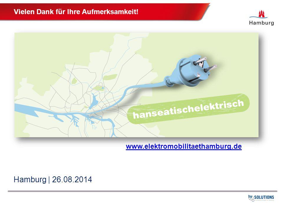 Hamburg | 26.08.2014 www.elektromobilitaethamburg.de Vielen Dank für Ihre Aufmerksamkeit!