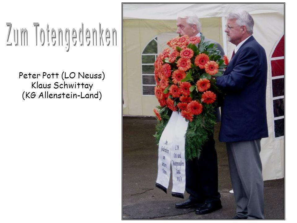 Peter Pott (LO Neuss) Klaus Schwittay (KG Allenstein-Land)