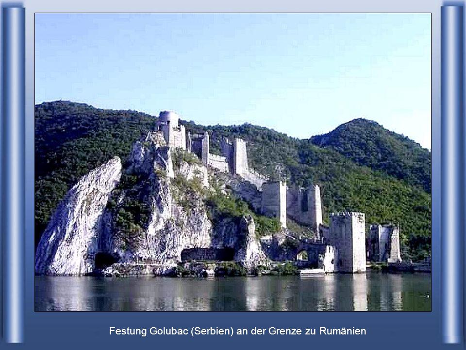 Festung Golubac (Serbien) an der Grenze zu Rumänien