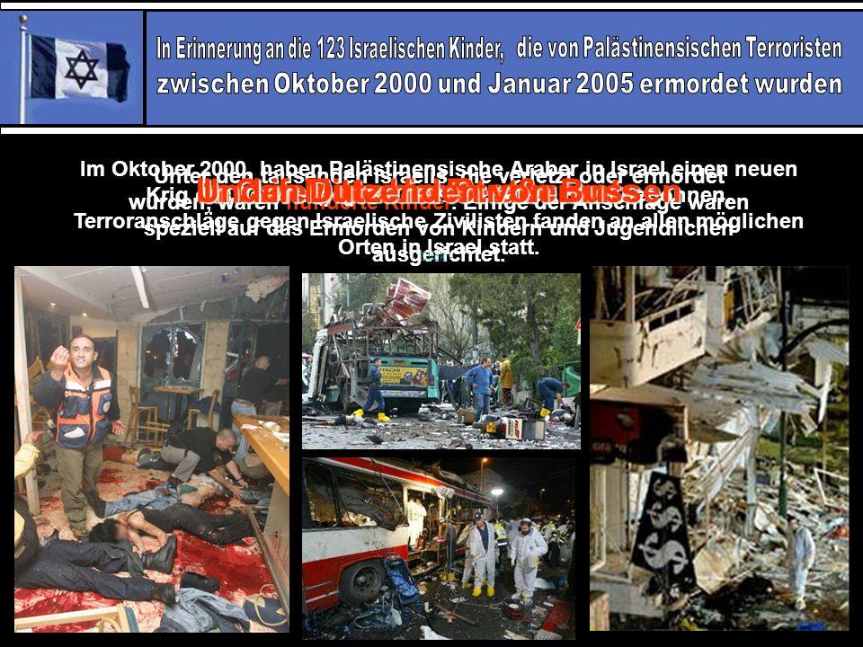 Bitte nehmen Sie sich ein paar Minuten Zeit…Im Gedenken an und zum Kennenlernen…Unserer wundervollen Kinder und Jugendlichen…Die von Arabischen Terroristen ermordet wurden….
