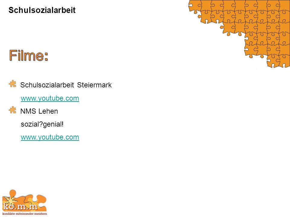 Schulsozialarbeit Steiermark www.youtube.com NMS Lehen sozial?genial! www.youtube.com