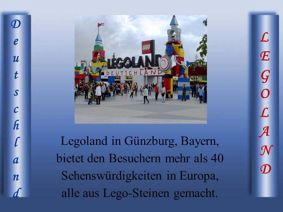 LEGOLANDLEGOLAND DeutschlandDeutschland Legoland in Günzburg, Bayern, bietet den Besuchern mehr als 40 Sehenswürdigkeiten in Europa, alle aus Lego-Ste