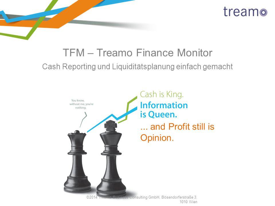 ©2014 Treamo Business Consulting GmbH, Bösendorferstraße 3, 1010 Wien TFM – Treamo Finance Monitor Cash Reporting und Liquiditätsplanung einfach gemac