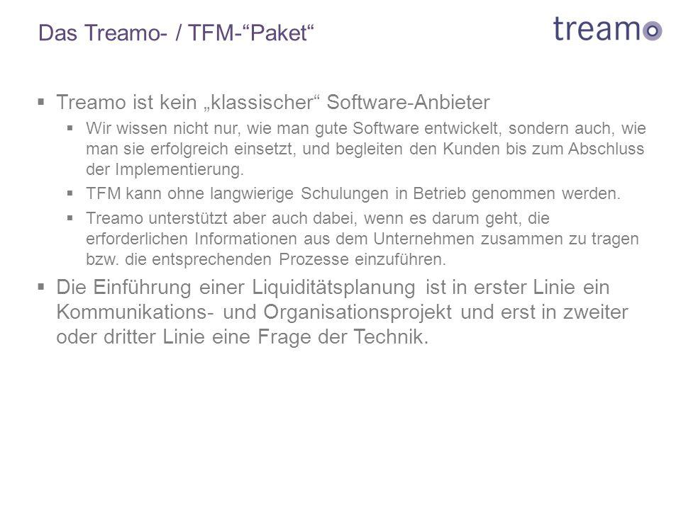 """Das Treamo- / TFM-""""Paket""""  Treamo ist kein """"klassischer"""" Software-Anbieter  Wir wissen nicht nur, wie man gute Software entwickelt, sondern auch, wi"""