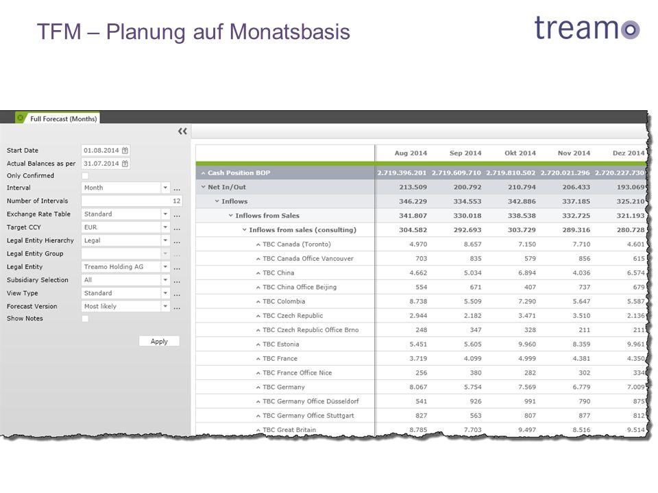 TFM – Planung auf Monatsbasis