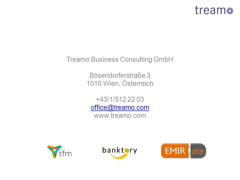 Treamo Business Consulting GmbH Bösendorferstraße 3 1010 Wien, Österreich +43/1/512 22 03 office@treamo.com www.treamo.com
