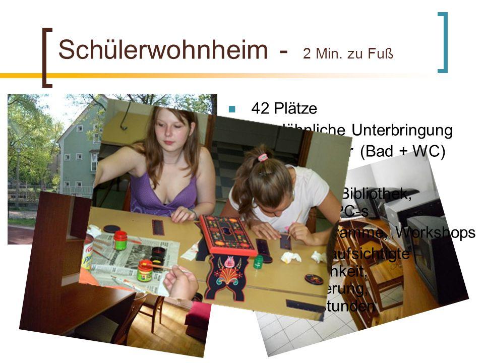 Schülerwohnheim - 2 Min.