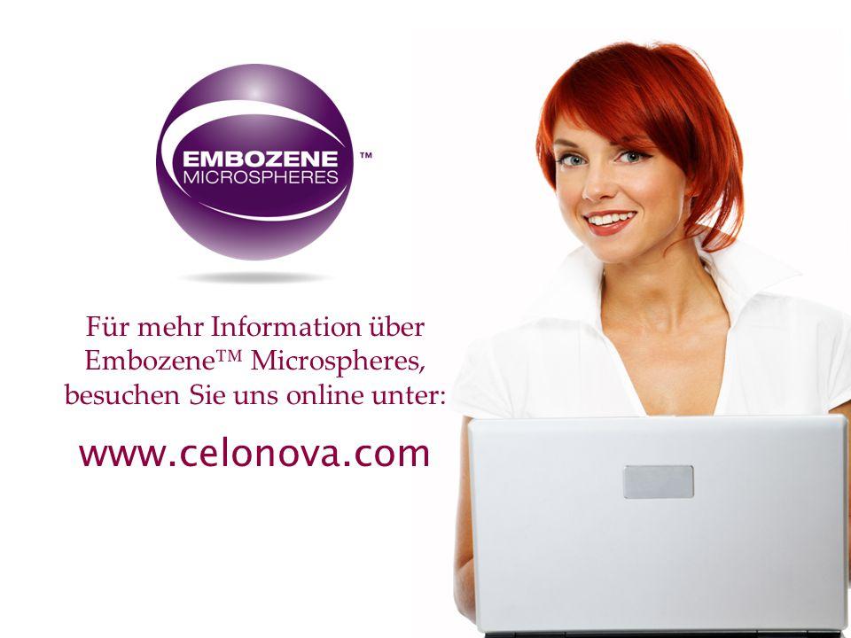 Für mehr Information über Embozene™ Microspheres, besuchen Sie uns online unter: www.celonova.com