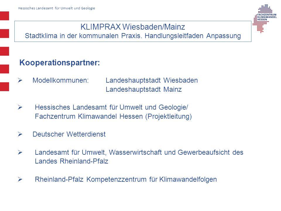 KLIMPRAX Wiesbaden/Mainz Stadtklima in der kommunalen Praxis.