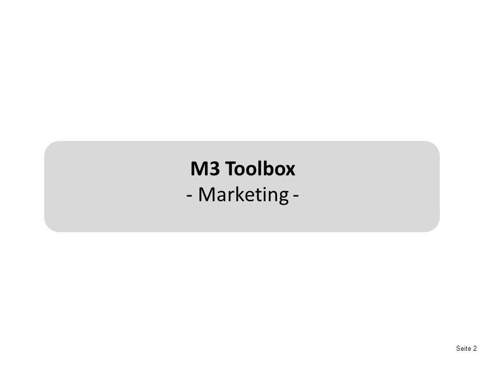 Seite 13 Der Marketing-Mix Der Marketing-Mix bestimmt, welche Instrumente in welcher Kombination eingesetzt werden, um die Ziele eines Unternehmens zu erreichen.