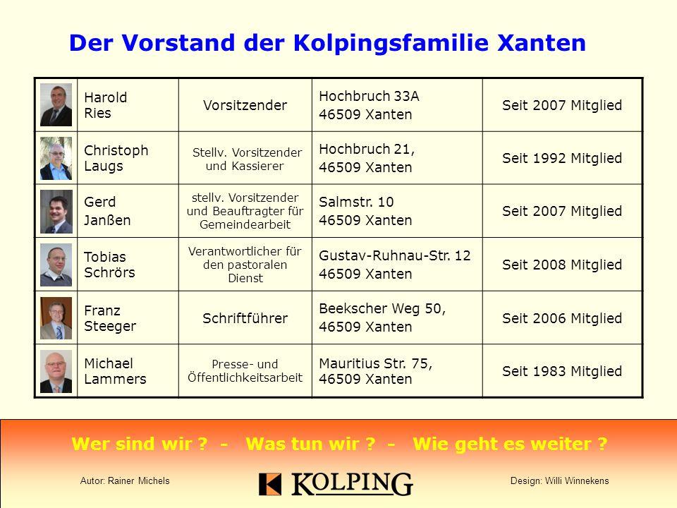 Harold Ries Vorsitzender Hochbruch 33A 46509 Xanten Seit 2007 Mitglied Christoph Laugs Stellv.
