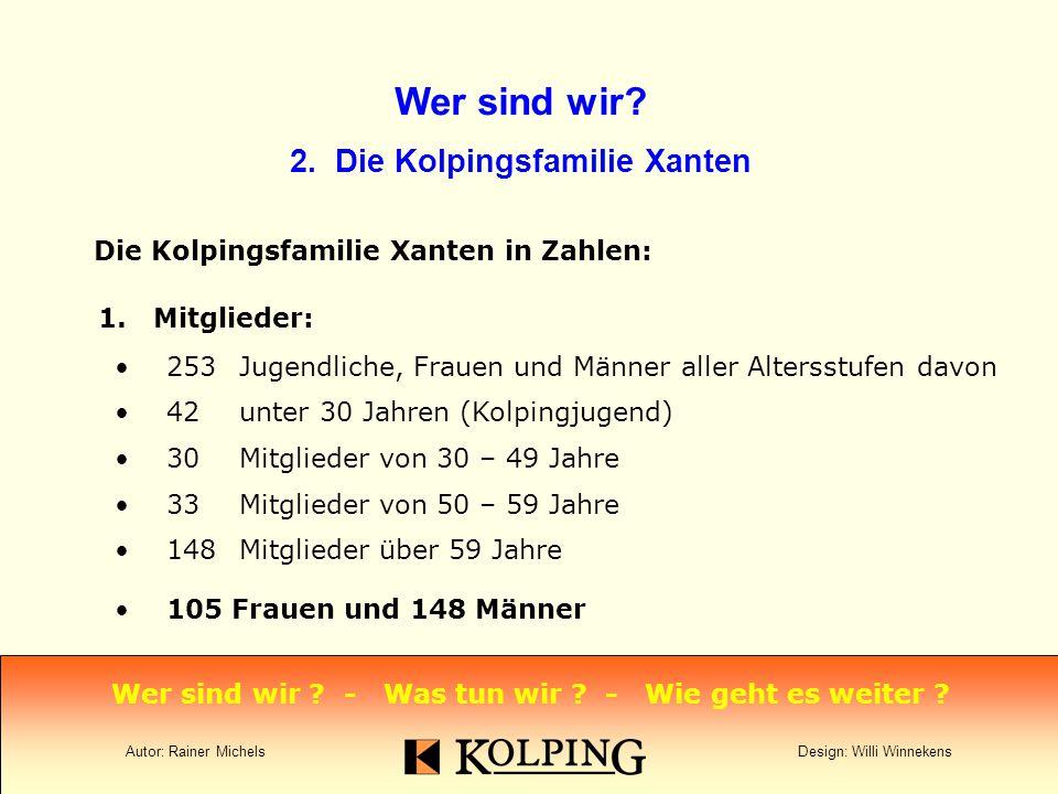 Wer sind wir.2. Die Kolpingsfamilie Xanten Die Kolpingsfamilie Xanten in Zahlen: 1.