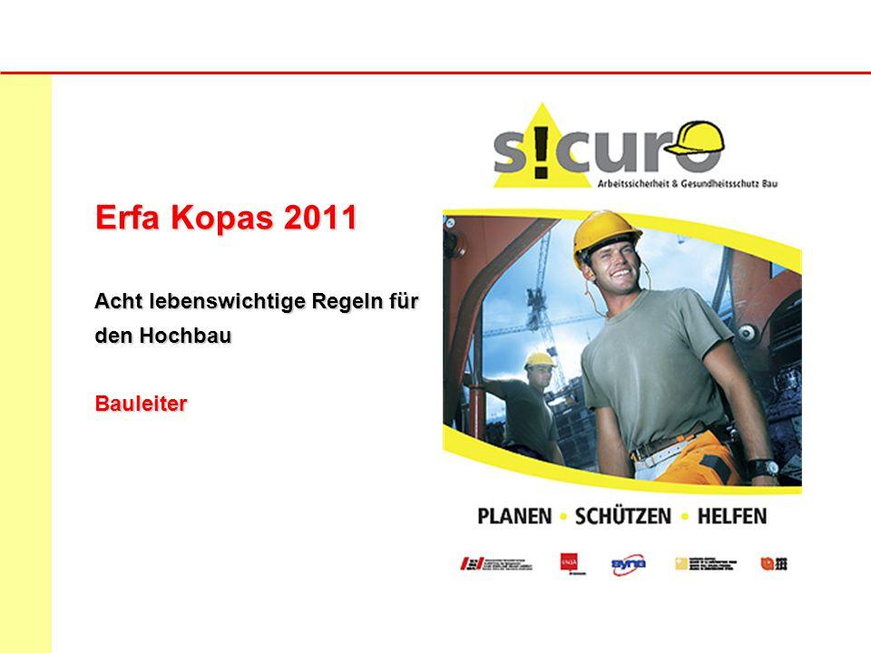 Erfa Kopas 2011 Acht lebenswichtige Regeln für den Hochbau Bauleiter
