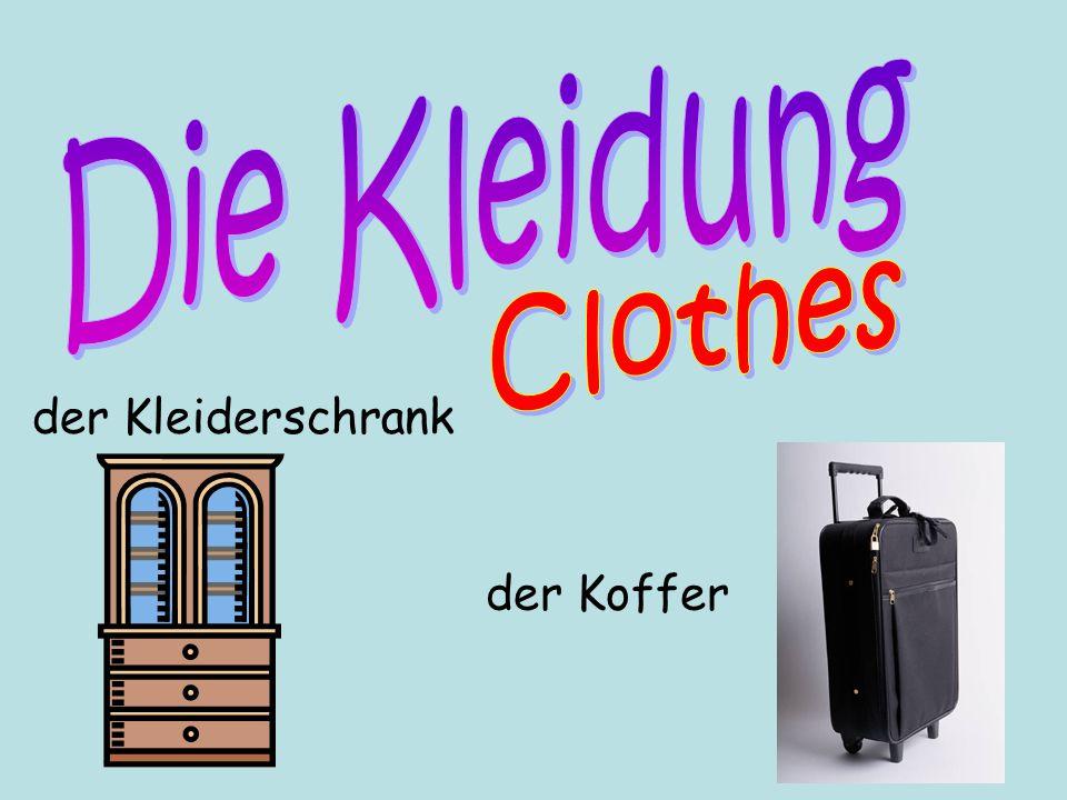 der Koffer der Kleiderschrank