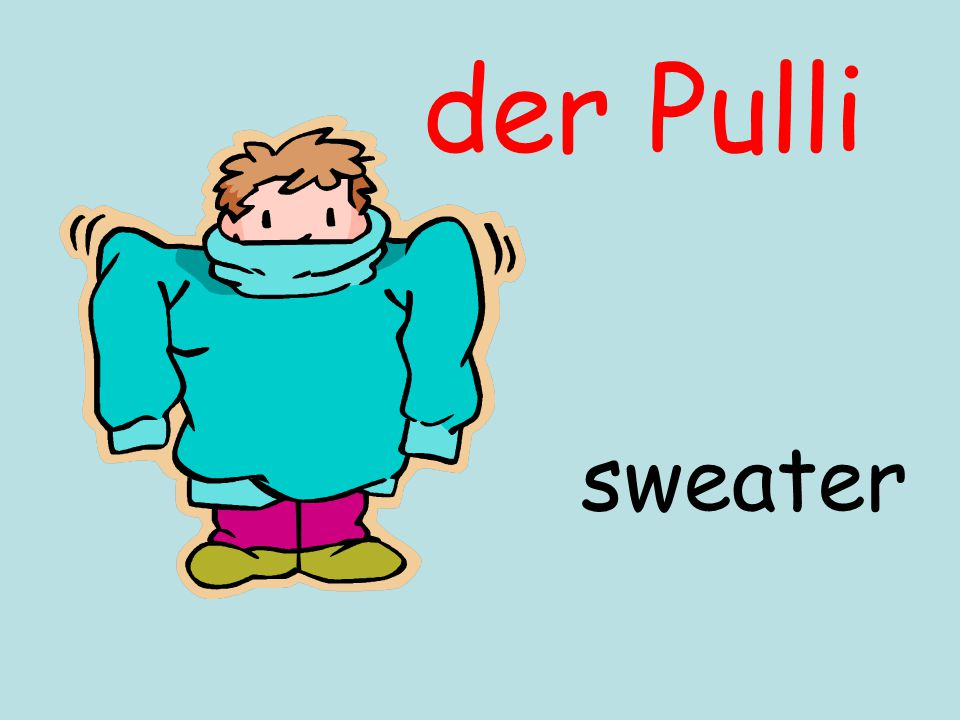 der Pulli sweater