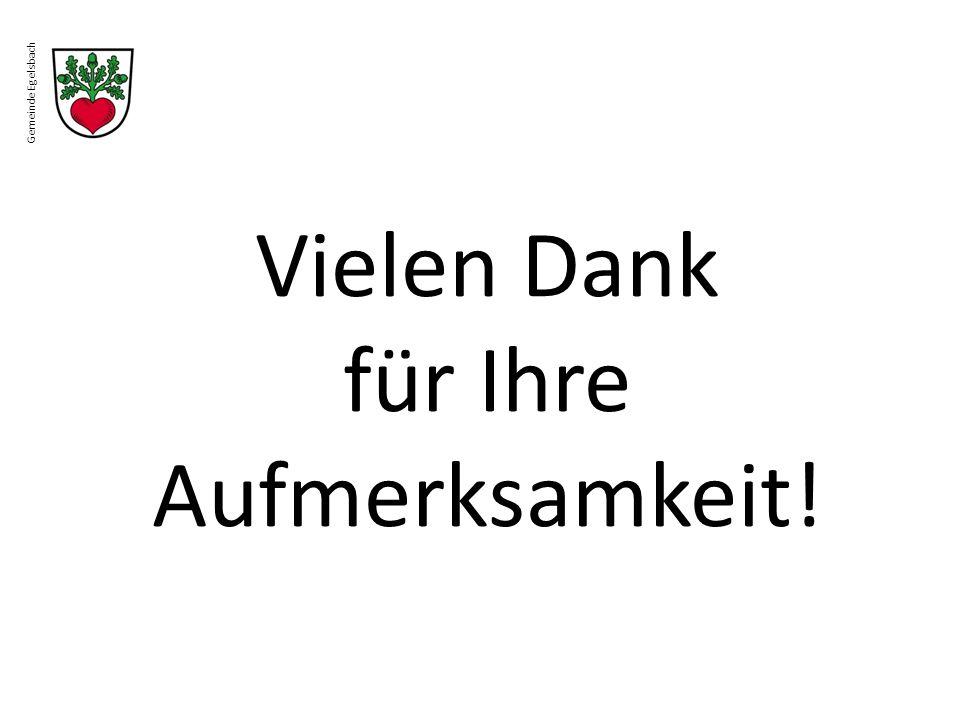 Gemeinde Egelsbach Vielen Dank für Ihre Aufmerksamkeit!