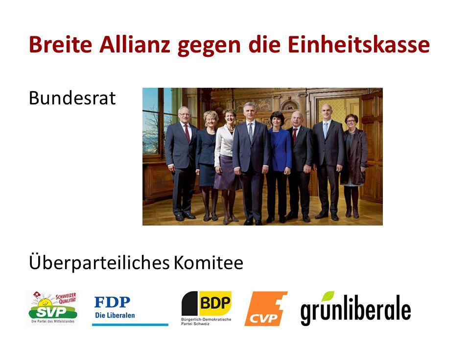 Bundesrat Überparteiliches Komitee Breite Allianz gegen die Einheitskasse