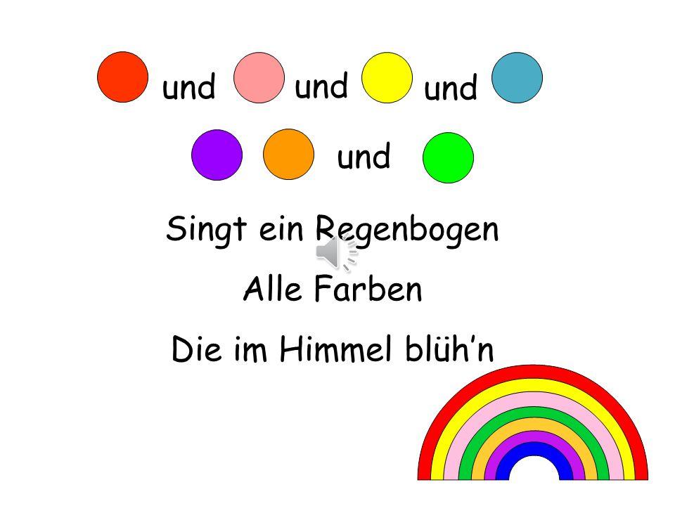 Rot und rosa und gelb und blau, Lila, orange, und grün.