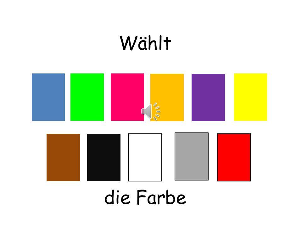 Hört zu und schaut die Farben auf Deutsch an…
