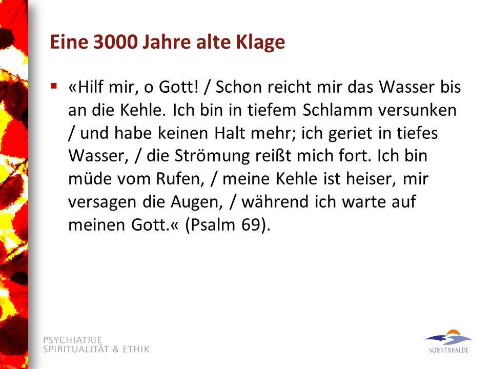 Eine 3000 Jahre alte Klage  «Hilf mir, o Gott./ Schon reicht mir das Wasser bis an die Kehle.