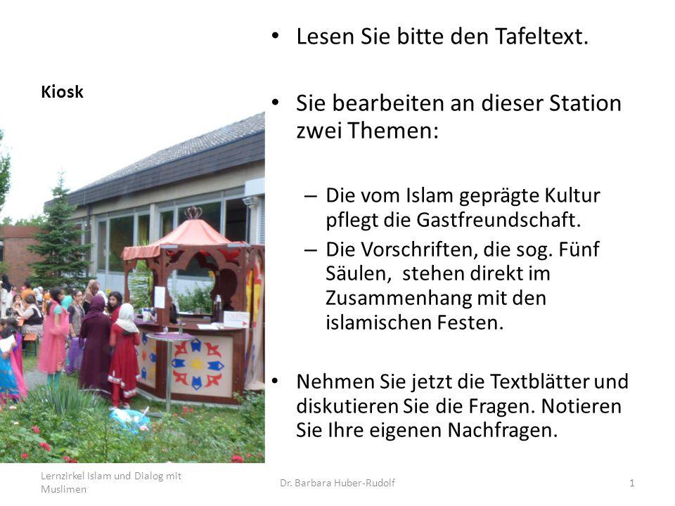 Kiosk: Gastfreundschaft Im Koran werden die Muslime zur Gastfreundschaft aufgerufen.