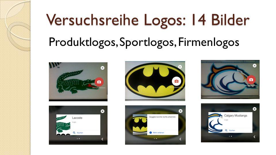 Versuchsreihe Logos: 14 Bilder Produktlogos, Sportlogos, Firmenlogos