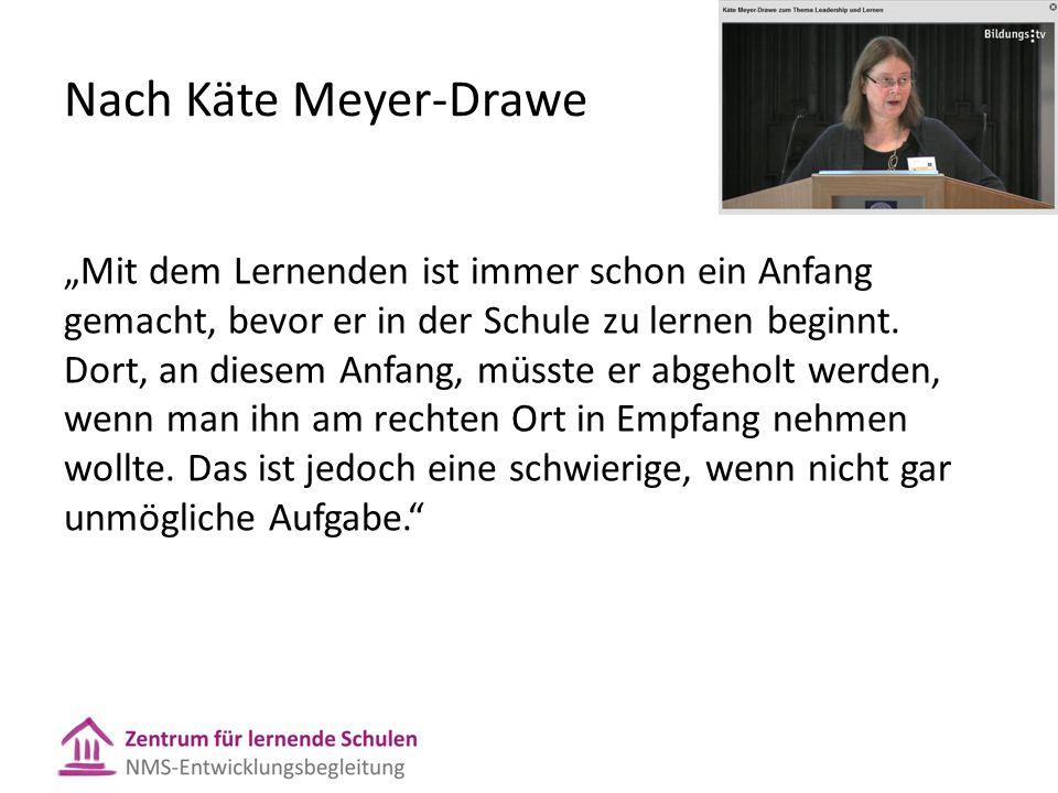 """Nach Käte Meyer-Drawe """"Mit dem Lernenden ist immer schon ein Anfang gemacht, bevor er in der Schule zu lernen beginnt."""