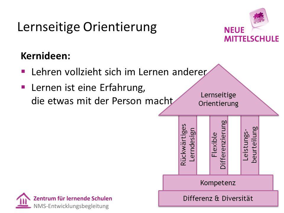 Lernseitige Orientierung Kernideen:  Lehren vollzieht sich im Lernen anderer.