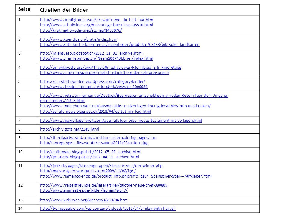 Seite Quellen der Bilder 1http://www.predigt-online.de/prewo/frame_da_hilft_nur.htm http://www.schulbilder.org/malvorlage-buch-lesen-i5510.html http:/