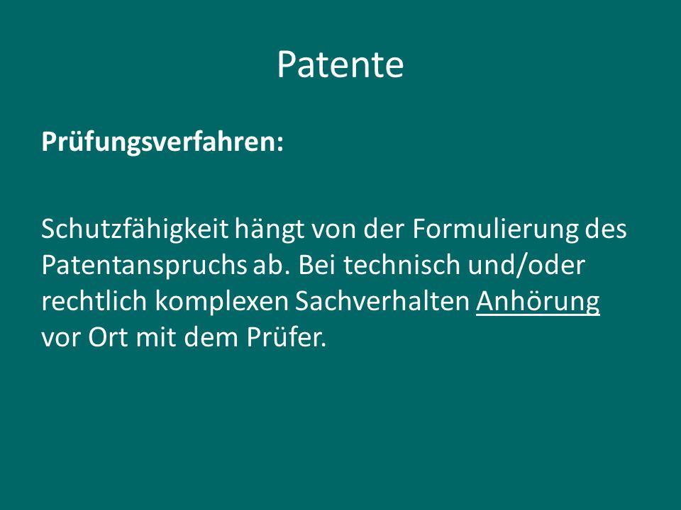 Patente Prüfungsverfahren: Schutzfähigkeit hängt von der Formulierung des Patentanspruchs ab. Bei technisch und/oder rechtlich komplexen Sachverhalten