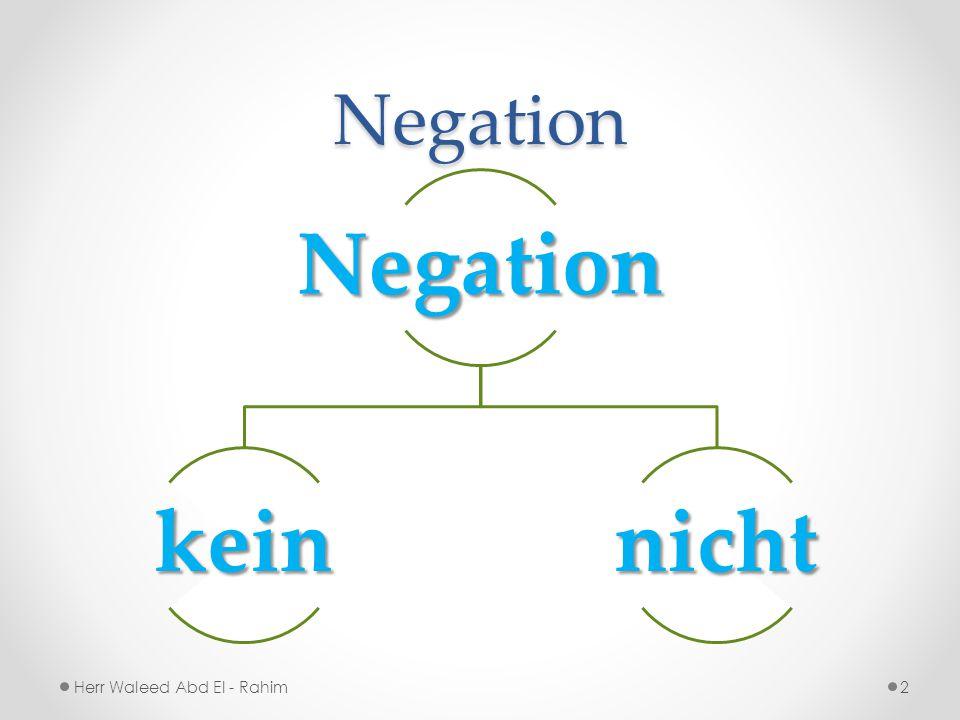 NegationNegation keinnicht 2