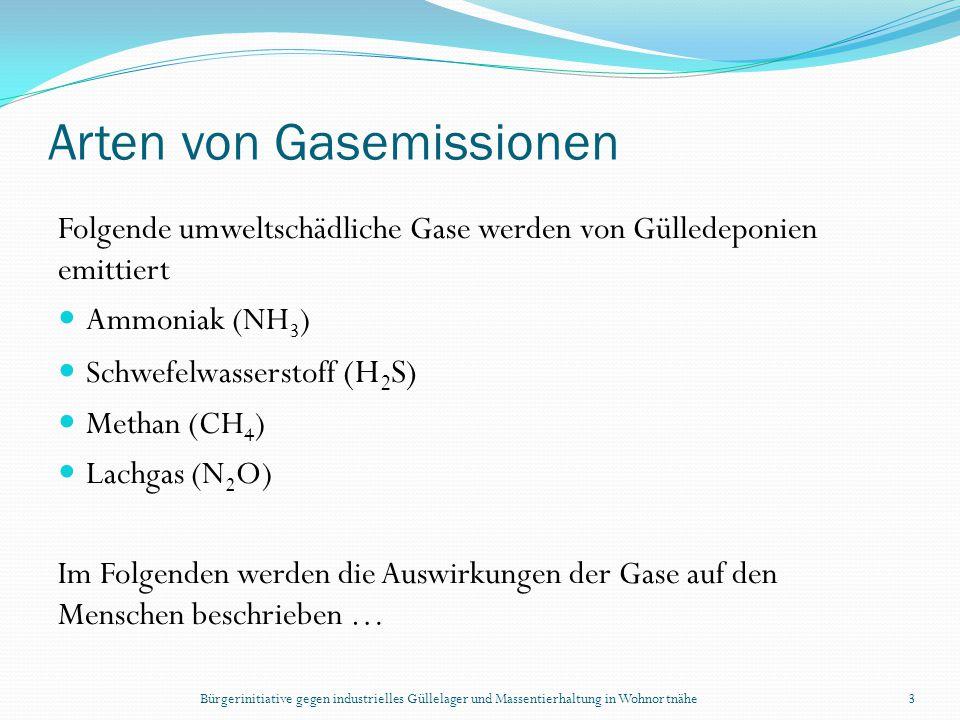 Bürgerinitiative gegen industrielles Güllelager und Massentierhaltung in Wohnortnähe3 Arten von Gasemissionen Folgende umweltschädliche Gase werden vo