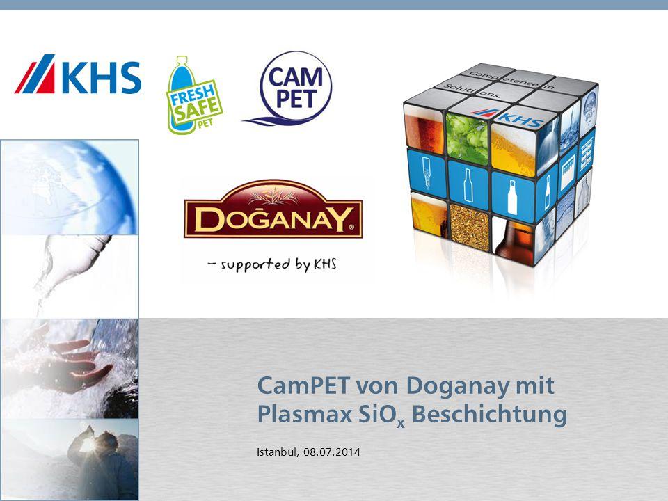 11,000,0011,00 6,80 4,80 4,00 2,00 8,20 CamPET von Doganay mit Plasmax SiO x Beschichtung Istanbul, 08.07.2014
