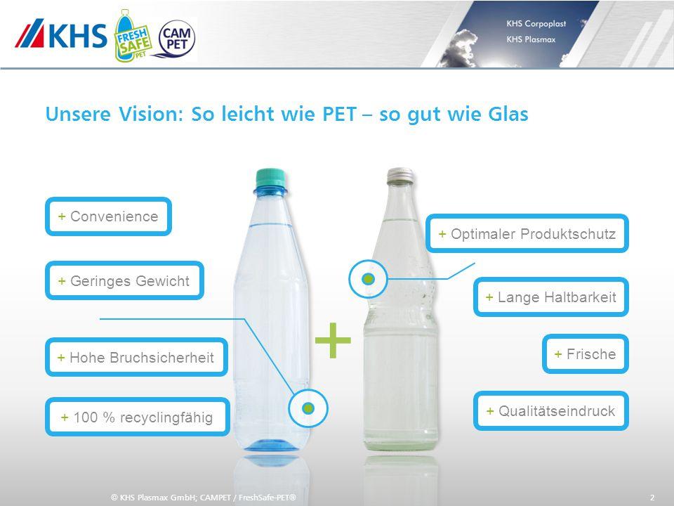 11,000,0011,00 6,80 4,80 4,00 2,00 8,20 Unsere Vision: So leicht wie PET – so gut wie Glas 2 + Optimaler Produktschutz + Lange Haltbarkeit + Hohe Bruc
