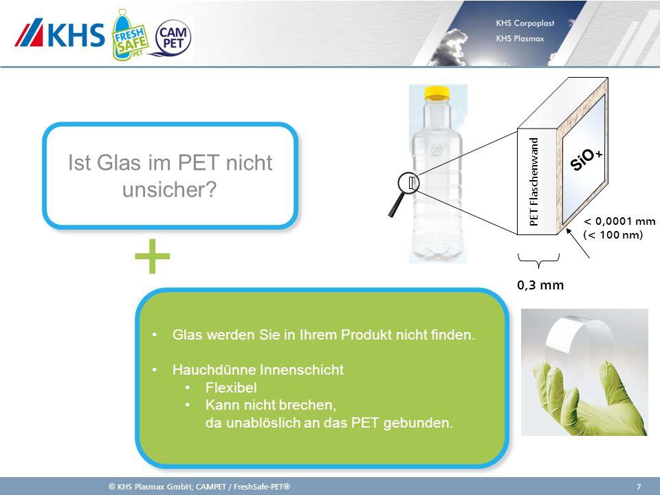 11,000,0011,00 6,80 4,80 4,00 2,00 8,20 Weltweiter Einsatz SiOx Beschichtung in verschiedenen Industrien Getränkeindustrie: Produktschutz für Premiumprodukte (u.a.