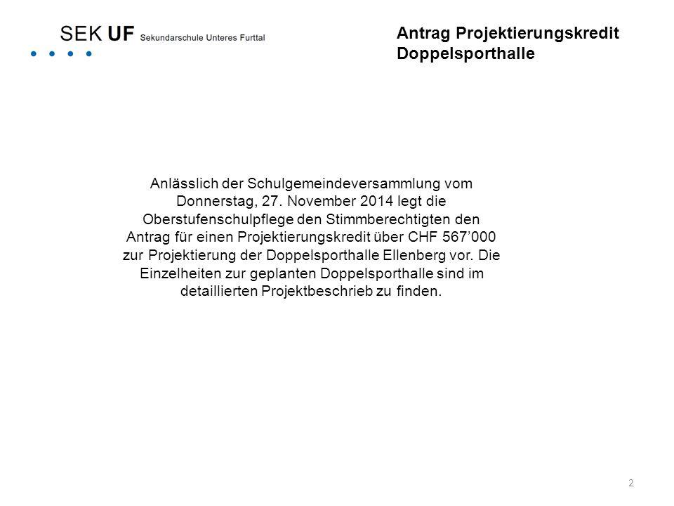 3 Kostenfolge* Die beantragten Projektierungskosten betragen pauschal CHF 567'000.- (inkl.