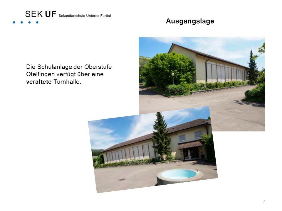 7 Die Schulanlage der Oberstufe Otelfingen verfügt über eine veraltete Turnhalle. Ausgangslage