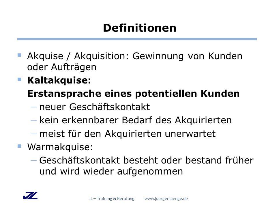Und dann geht's los … JL – Training & Beratung www.juergenlaenge.de