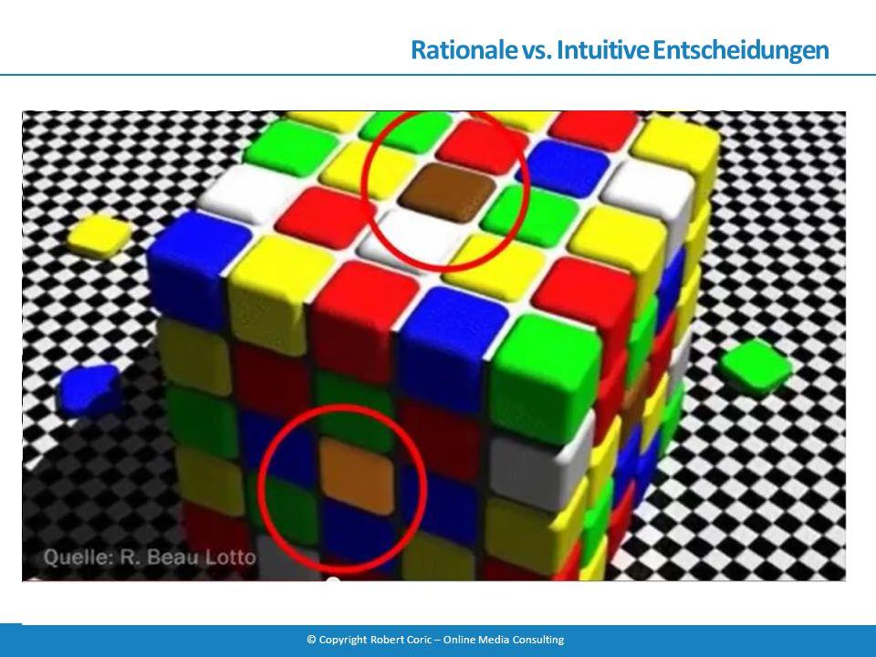 © Copyright Robert Coric – Online Media Consulting Rationale vs. Intuitive Entscheidungen