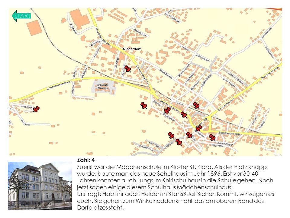 START Zahl: 4 Zuerst war die Mädchenschule im Kloster St.