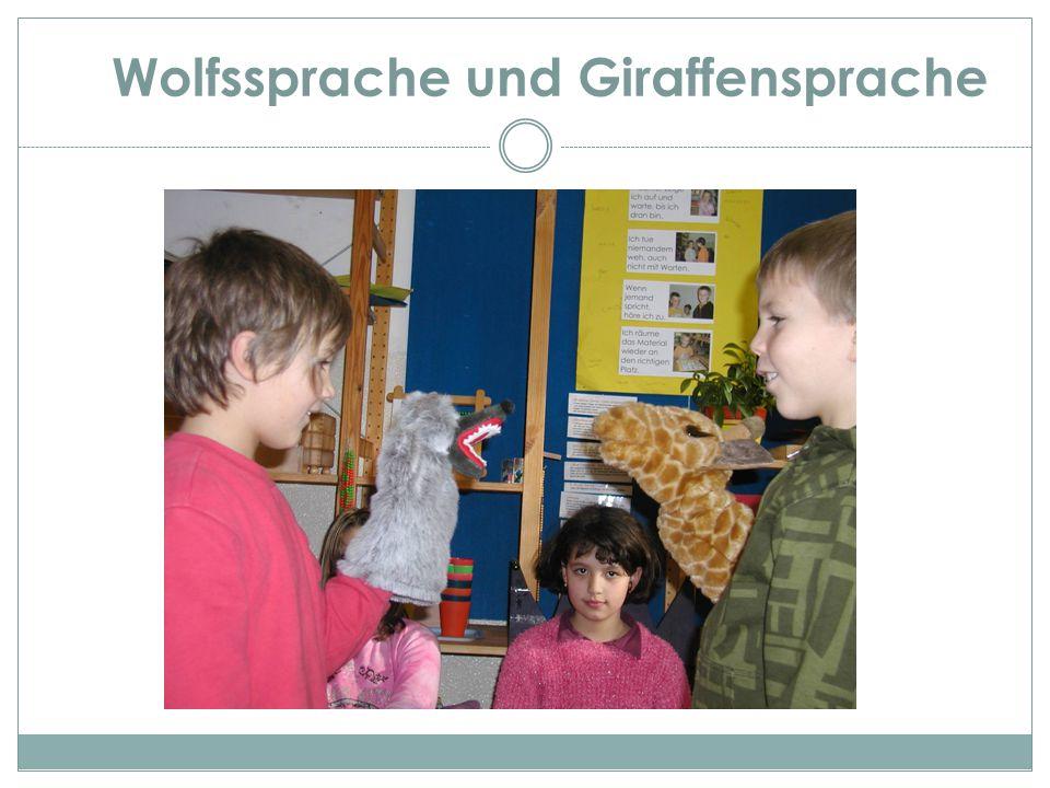 Wolfssprache und Giraffensprache