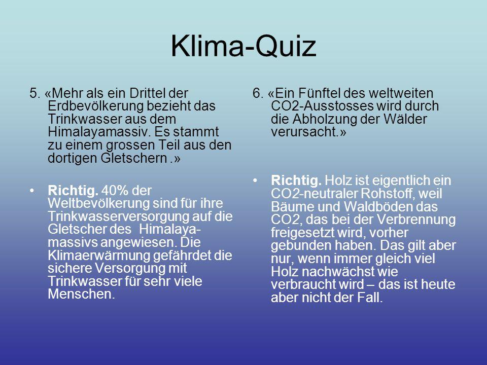 Klima-Quiz 5.