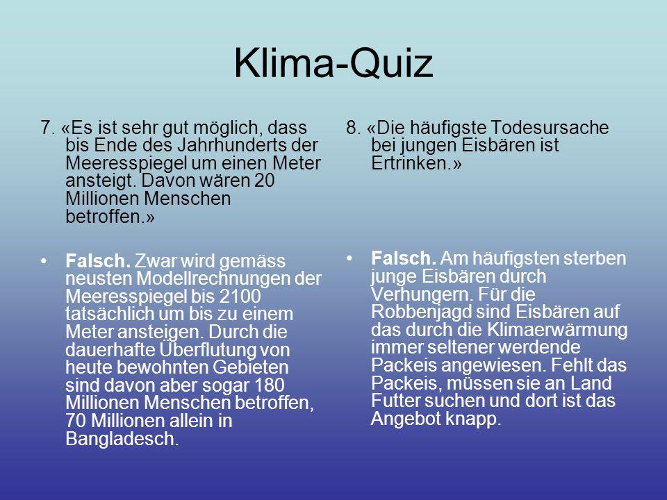 Klima-Quiz 7.