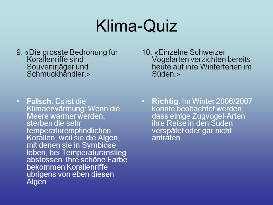 Klima-Quiz 9.