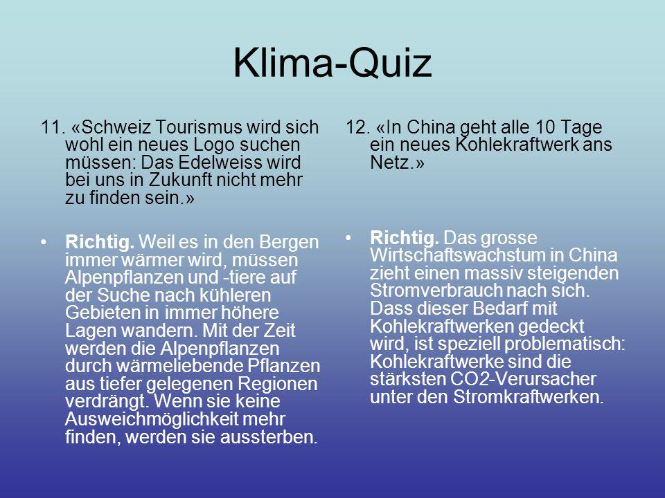 Klima-Quiz 11.