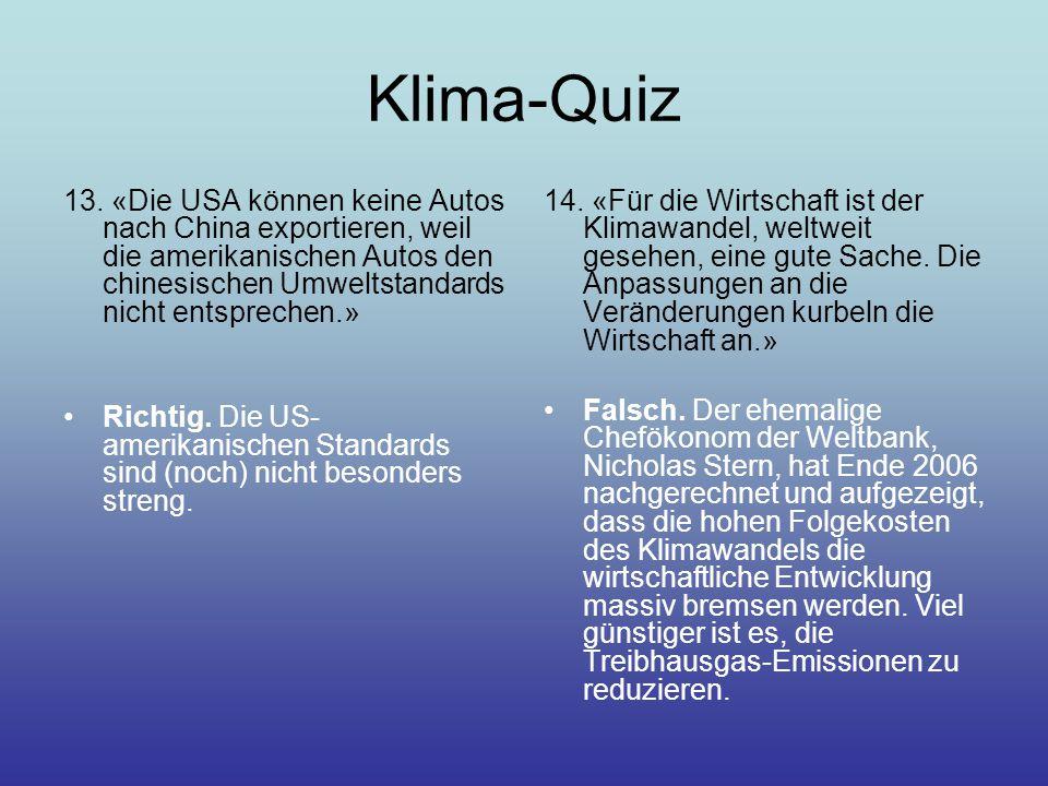 Klima-Quiz 13.