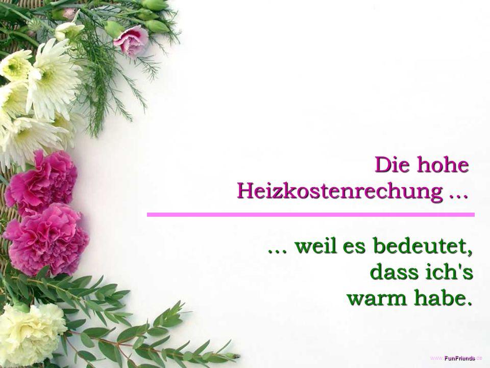 FunFriends www.FunFriends.de Die hohe Heizkostenrechung......