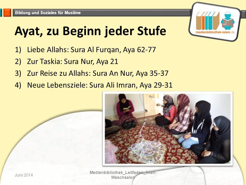 Bildung und Soziales für Muslime BarkAllahu fikum Mai 2014Tagebuch_Mütter der Gläubigen Besucht uns auch auf: