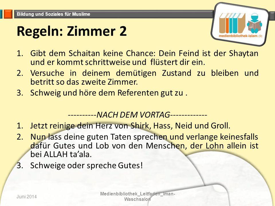 Bildung und Soziales für Muslime Juni 2014 Medienbibliothek_Leitfaden_Iman- Waschsalon Im 2.